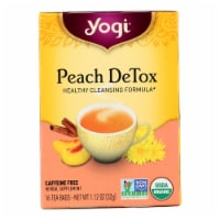 Yogi Detox - Peach - Case of 6 - 16 Bags - Case of 6 - 16 BAG each