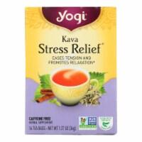 Yogi Tea Kava Stress Relief - Caffeine Free - 16 Tea Bags - Case of 1 - 16 BAG each