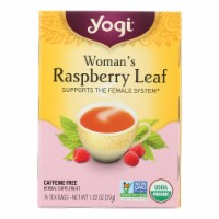 Yogi Tea Woman's Raspberry Leaf - Caffeine Free - 16 Tea Bags - Case of 1 - 16 BAG each