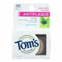 Tom's of Maine Antiplaque Flat Floss Waxed Spearmint - 32 Yards - Case of 6 - Case of 6 - 32 YD each