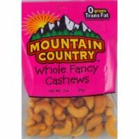 Mountain Country Whole Fancy Jumbo Cashew, 2 Ounce -- 6 per case. - 6-2 OUNCE