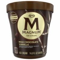 MAGNUM Milk Chocolate Vanilla Ice Cream, 14.8 oz. Tub (8 count)