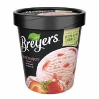 Breyers, Strawberry All Natural Frozen Dessert, Pint (8 Count) - 8 Count