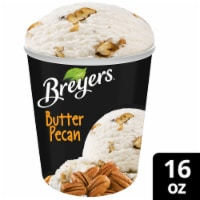 Breyers, Butter Pecan All Natural Ice Cream, Pint (8 Count)