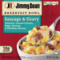 Jimmy Dean® Country Gravy Sausage Cheddar Potatoes & Egg Breakfast Bowl Frozen Entree
