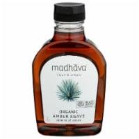 Madhava Honey - Agave Nectar Raw Ambr - Case of 6 - 17 OZ