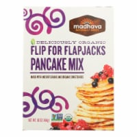 Madhava Honey Organic Pancake Mix with Ancient Grains - Flip For Flapjacks-Case of 6-16 oz