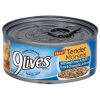 9Lives Tender Morsels Ocean White Fish Tuna with Cheese Case Wet Cat Food