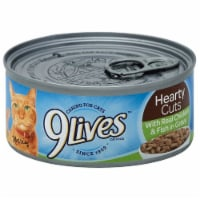 9Lives Hearty Cuts Chicken and Fish Wet Cat Food Case
