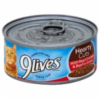 9Lives Beef Chicken in Gravy Wet Cat Food Case