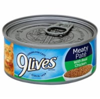 9Lives Meaty Pate Chicken Dinner Wet Cat Food