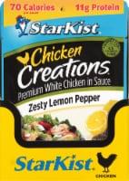 StarKist Chicken Creations Zesty Lemon Pepper Chicken Pouch Case - 12 ct / 2.6 oz
