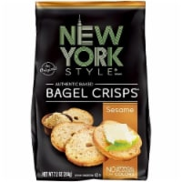 New York Style Sesame Bagel Crisps 7.2 Oz Bag (Pack of 12) - 12