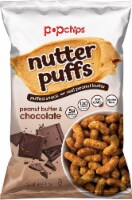 Popchips Nutter Puffs Peanut Butter & Chocolate, Gluten Free & Non GMO, 4oz (Pack of 12) - 12