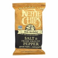 Kettle Brand Krinkle Cut Salt & Fresh Ground Pepper Potato Chips - 12 ct / 8.5 oz