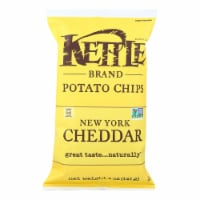 Kettle Brand Potato Chips - New York Cheddar - Case of 15 - 5 oz.