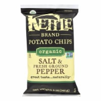 Kettle Brand Potato Chips - Organic - Salt and Fresh Ground Pepper - 5 oz - case of 15 - Case of 15 - 5 OZ each