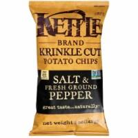 Kettle Krinkle Cut Salt and Fresh Ground Pepper Potato Chips - 5 oz. bag, 15 per case - 15-5 OUNCE