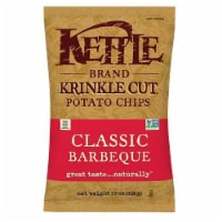 Kettle Foods Krinkle Cut Barbeque Potato Chips, 13 Ounce -- 9 per case.