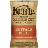 Kettle Krinkle Cut Buffalo Bleu Potato Chips - 5 oz. bag, 15 per case - 15-5 OUNCE