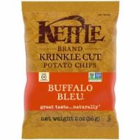 Kettle Krinkle Cut Buffalo Bleu Potato Chips - 2 oz. bag, 24 per case - 24-2 OUNCE