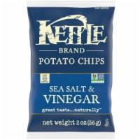 Kettle Sea Salt and Vinegar Potato Chips - 2 oz. bag, 6 per case