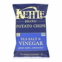 Kettle Brand - Potato Chps Sea Salt & Vngar - Case of 9 - 13 OZ - 13 OZ