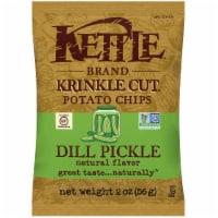 Kettle Foods Dill Pickle Krinkle Cut Potato Chips, 2 Ounce -- 6 per case. - 6-2 OUNCE