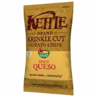 Kettle Brand Krinkle Cut Spicy Queso Potato Chips, 8.5oz (Pack of 12) - 12