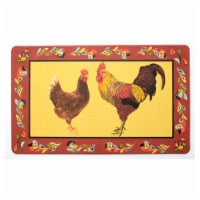 Stephan Roberts 18 IN. X 30 IN. DESIGNER KITCHEN MAT (5MM) - RED ROOSTER