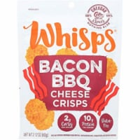 Cello Whisps Bacon BBQ Cheese Crisps Gluten Free, 2.12 oz (Pack of 12) - 12