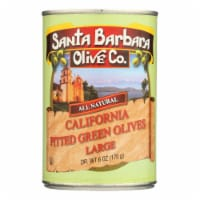 Santa Barbara California Green Olives - Pitted - Case of 12 - 5.75 oz. - 6 OZ