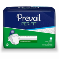 Unisex Adult Incontinence Brief Prevail® Per-Fit® Large Disposable Heavy Absorbency (72 CS)