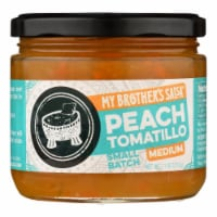 My Brother's Salsa Peach Tomatillo Medium Salsa  - Case of 6 - 11 OZ