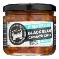 My Brother's Salsa Black Bean Chimayo Chile Salsa Medium  - Case of 6 - 11 OZ