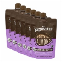 Yumbutter Plant Protein Almond Butter Squeeze Pouch - with Probiotics