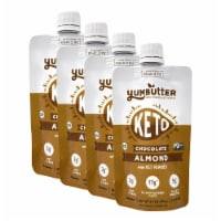 Yumbutter KETO Nut Butter with MCT - Chocolate Almond - 4 pouches / 3.4oz each