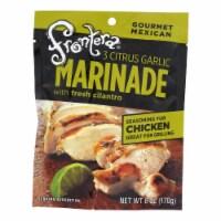 Frontera Foods Three Citrus Garlic Marinade - Garlic Marinade - Case of 6 - 6 FL oz.