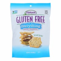 Miltons Gluten Free Baked Crackers - Everything - Case of 12 - 4.5 oz. - 4.5 OZ