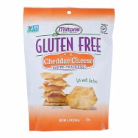 Miltons Gluten Free Baked Crackers - Cheddar Cheese - Case of 12 - 4.5 oz. - 4.5 OZ