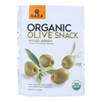 Gaea Olives - Organic - Green - Snack Pk - Case of 8 - 2.3 oz