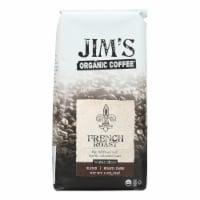 Jim's Organic Coffee - Whole Bean - French Roast - Case of 6 - 11 oz.