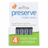 Preserve Triple Blade Refills - Case of 6 - 4 Packs