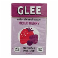 Glee Gum Chewing Gum - Triple Berry - Case Of 12 - 16 Pieces - 16 PC