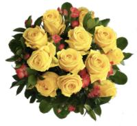 Exquisite Yellow Rose Bouquet (Approximate delivery is 1-3 Days)