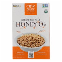 One Degree Organic Foods Cereal - Sprouted Oat Honey O'S - Case of 6 - 10 oz. - 10 OZ