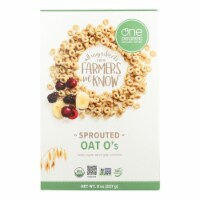 One Degree Organic Foods Sprouted Oat O's - Veganic - Case of 6 - 8 oz. - 8 OZ