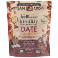 KII Naturals Organic Bite Size Artitsan Crisps Date & Almond , 5.3oz (Pack of 12) - 12