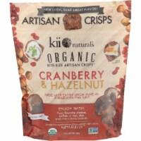KII Naturals Organic  Artitsan Crisps Cranberry & Hazelnut, 5.3oz (Pack of 12) - 12
