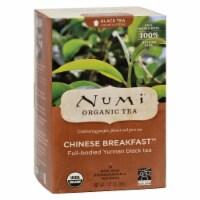 Numi Chinese Breakfast Yunnan Black Tea - 18 Tea Bags - Case of 6 - 18 BAG